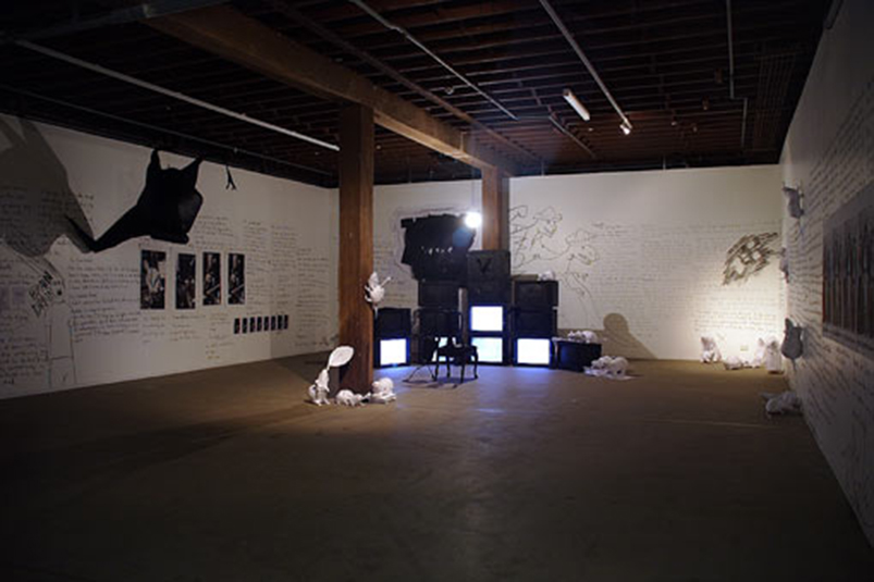 Carla Cescon, 'Night Crawlers & Shape-shifters: 100 Days And Nights In Search Of The Ramones', installation view, Artspace, Sydney, 2007