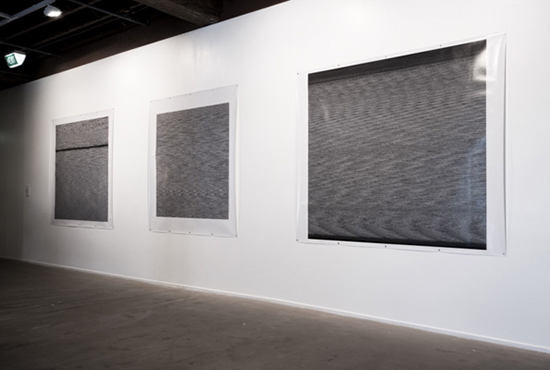 installation view of 'Point of Origin', (foreground: Kelly Wood), Artspace, Sydney, 2008