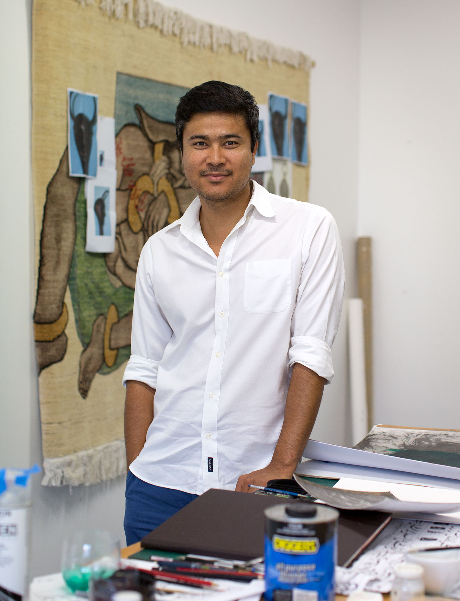 2015 One Year Studio Artist Khadim Ali. Photo: Jessica Maurer