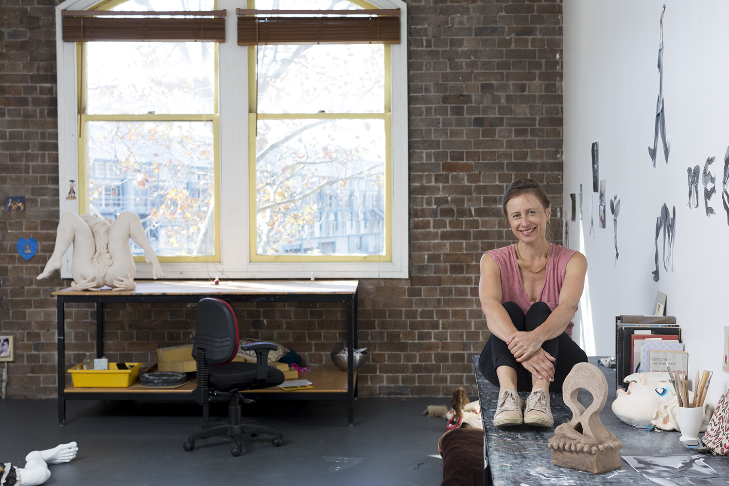 Cybele Cox in her Artspace Studio, 2018. Photo: Jessica Maurer