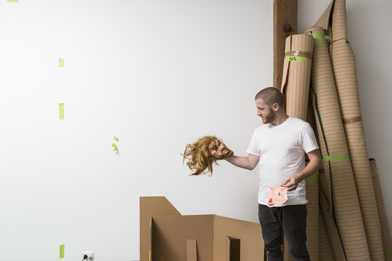 Heath Franco in his Artspace Studio, 2018. Photo: Jessica Maurer