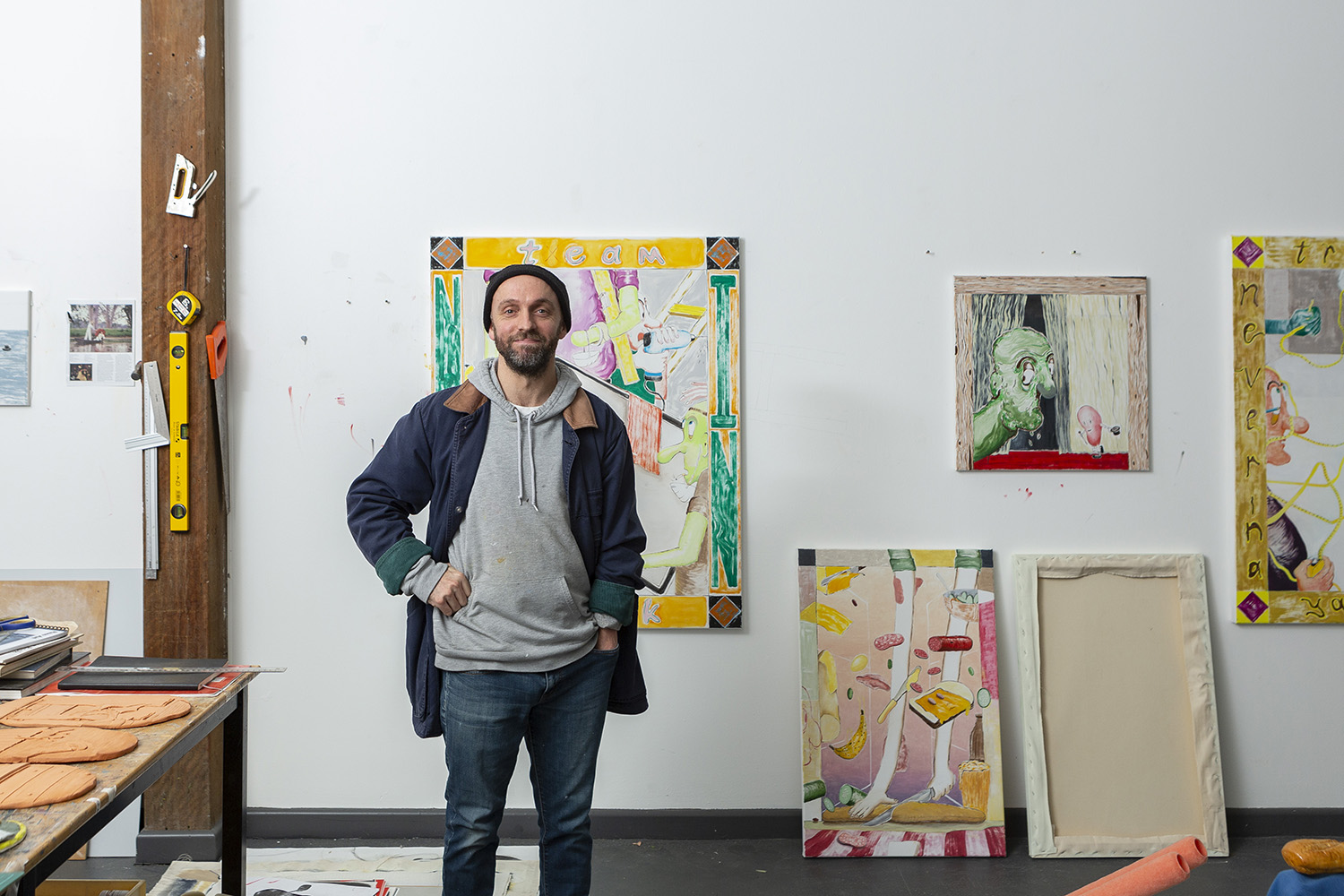 2019 One Year Studio Artist Chris Dolman in his Artspace Studio. Photo Jessica Maurer