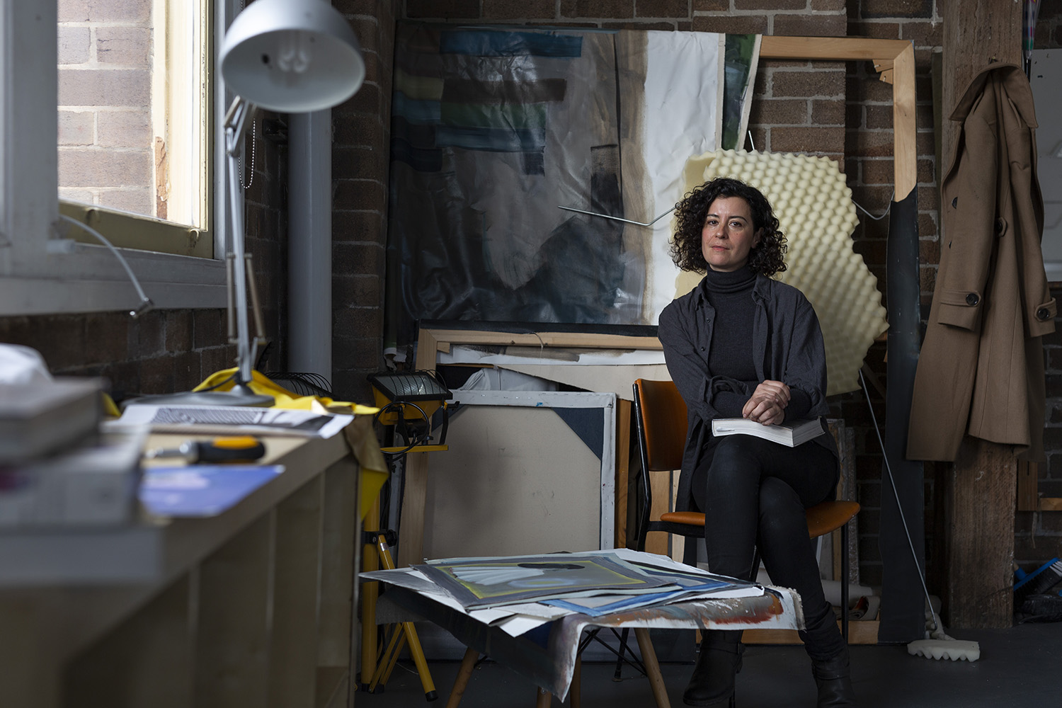 2019 One Year Studio Artist Jelena Telecki in her Artspace Studio. Photo Jessica Maurer