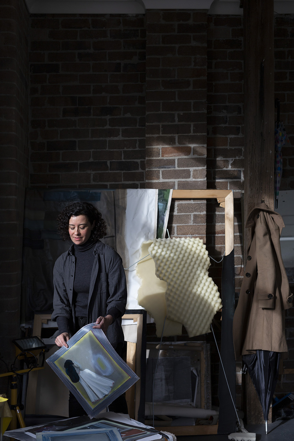 2019 One Year Studio Artist Jelena Telecki in her Artspace Studio. Photo: Jessica Maurer
