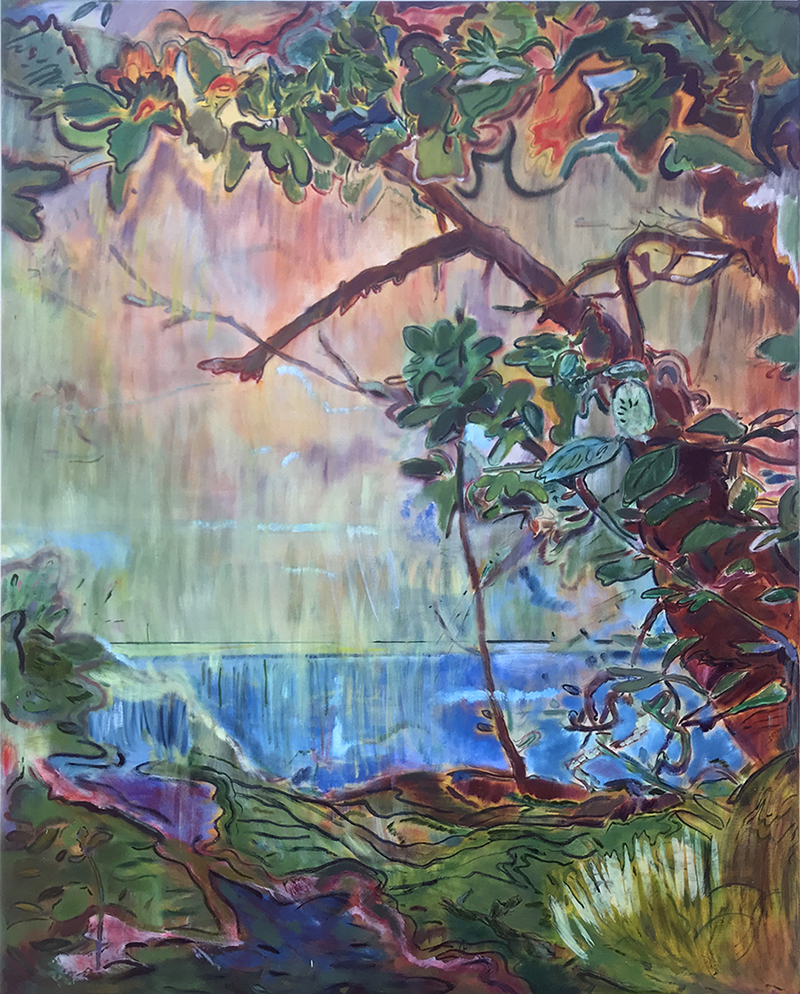 Seth Birchall, 'Don't Throw it in The River (Bali Studies)', 2019, oil on canvas 155 x 123 cm, 2019, courtesy the artist
