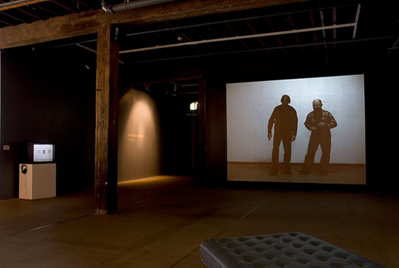 'STILL HERE: humour in post-communist performative video', installation view, Artspace, 2007