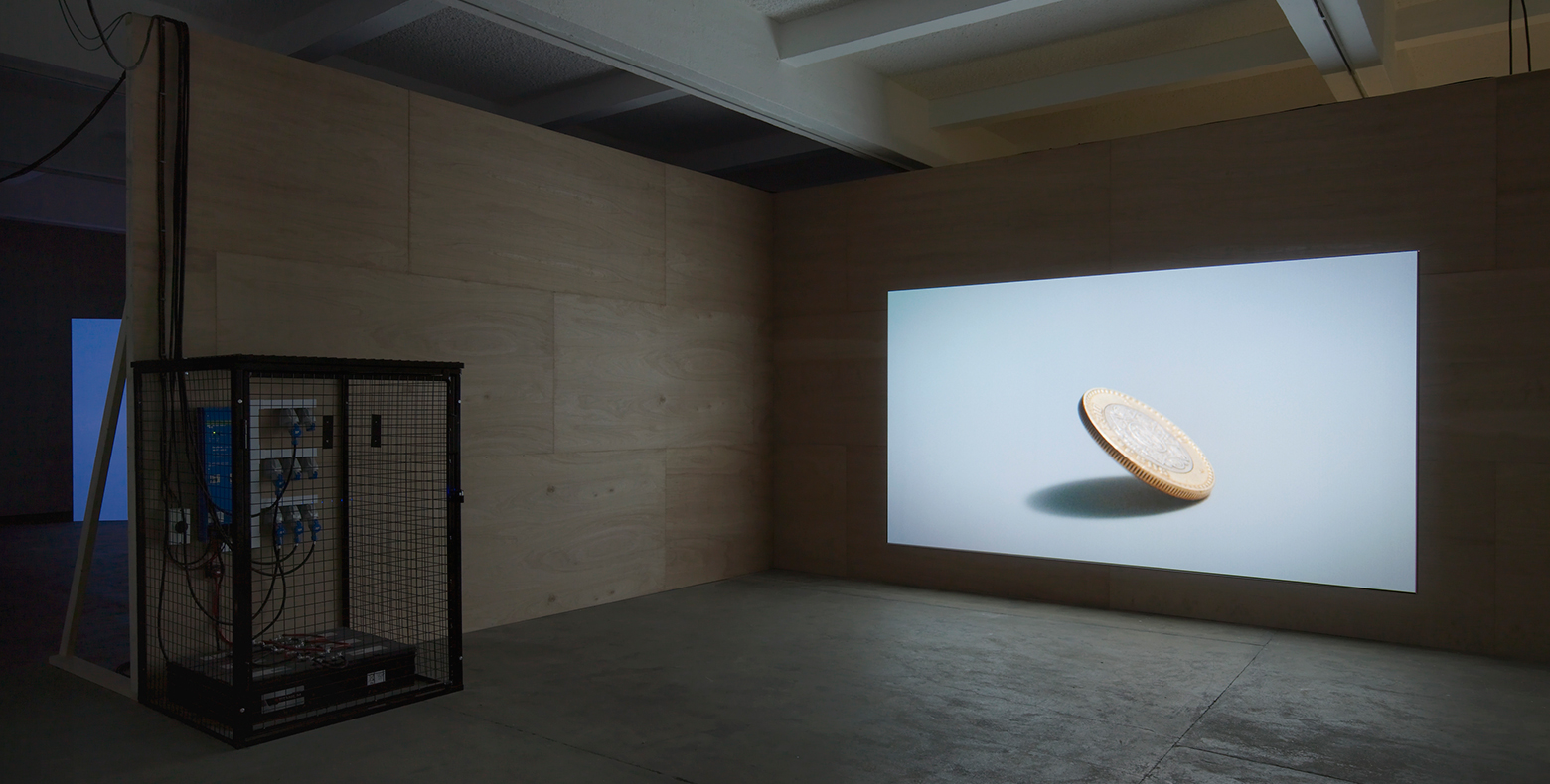 Nicholas Mangan, 'Ancient Lights', 2015. Installation view, Chisenhale Gallery, 2015. Co-commissioned by Chisenhale Gallery, London and Artspace, Sydney. Courtesy the artist; Labor Mexico; Sutton Gallery, Melbourne; and Hopkinson Mossman, Auckland.