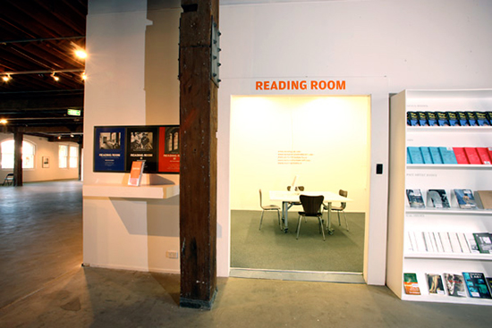 Bruce Barber,  'Reading and Writing Rooms', installation view, Artspace, Sydney, 2008.