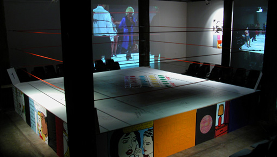 Richard Bell, 'Settling Old Scores', installation view, Artspace, Sydney, 2005