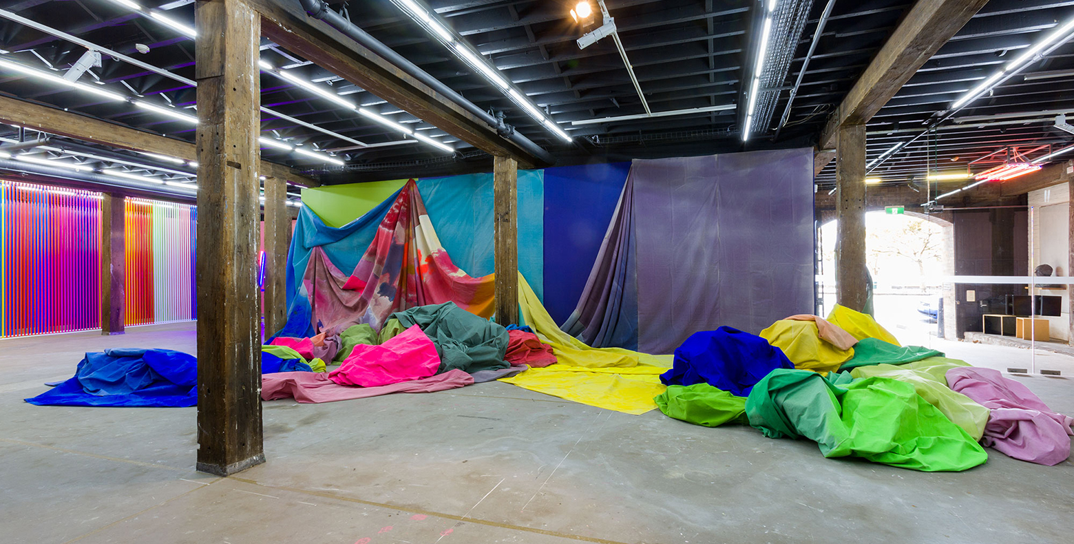 'Superposition of three types', 2017, curated by Talia Linz and Alexie Glass-Kantor, installation view, Artspace, Sydney. Photo: Jessica Maurer